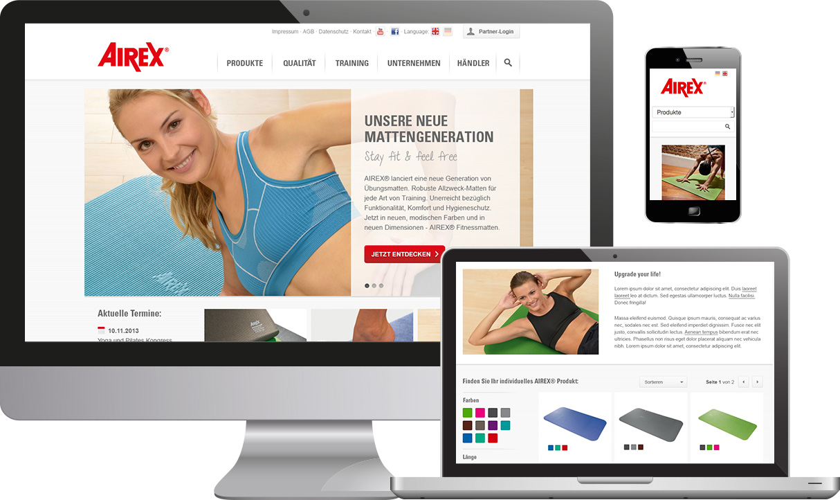 Responsive Website Airex AG