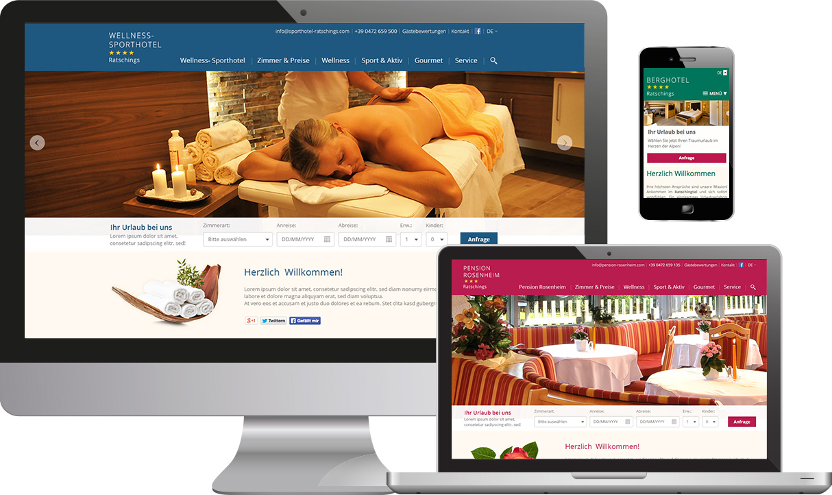 Responsive Websites Hotellerie