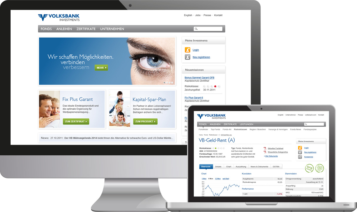 Website Volksbank Investments
