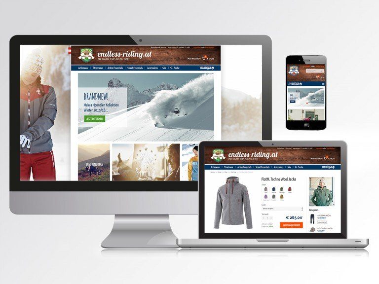 Magento Online Shop für Maloja Endless Riding