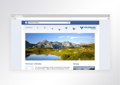 Facebook Welcome Pages für Volksbanken