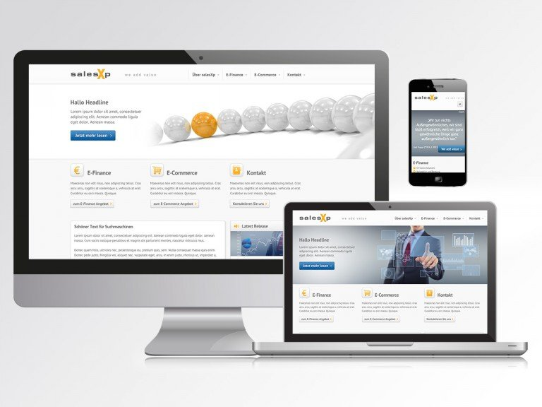 Responsive Typo3 Website für salesXp