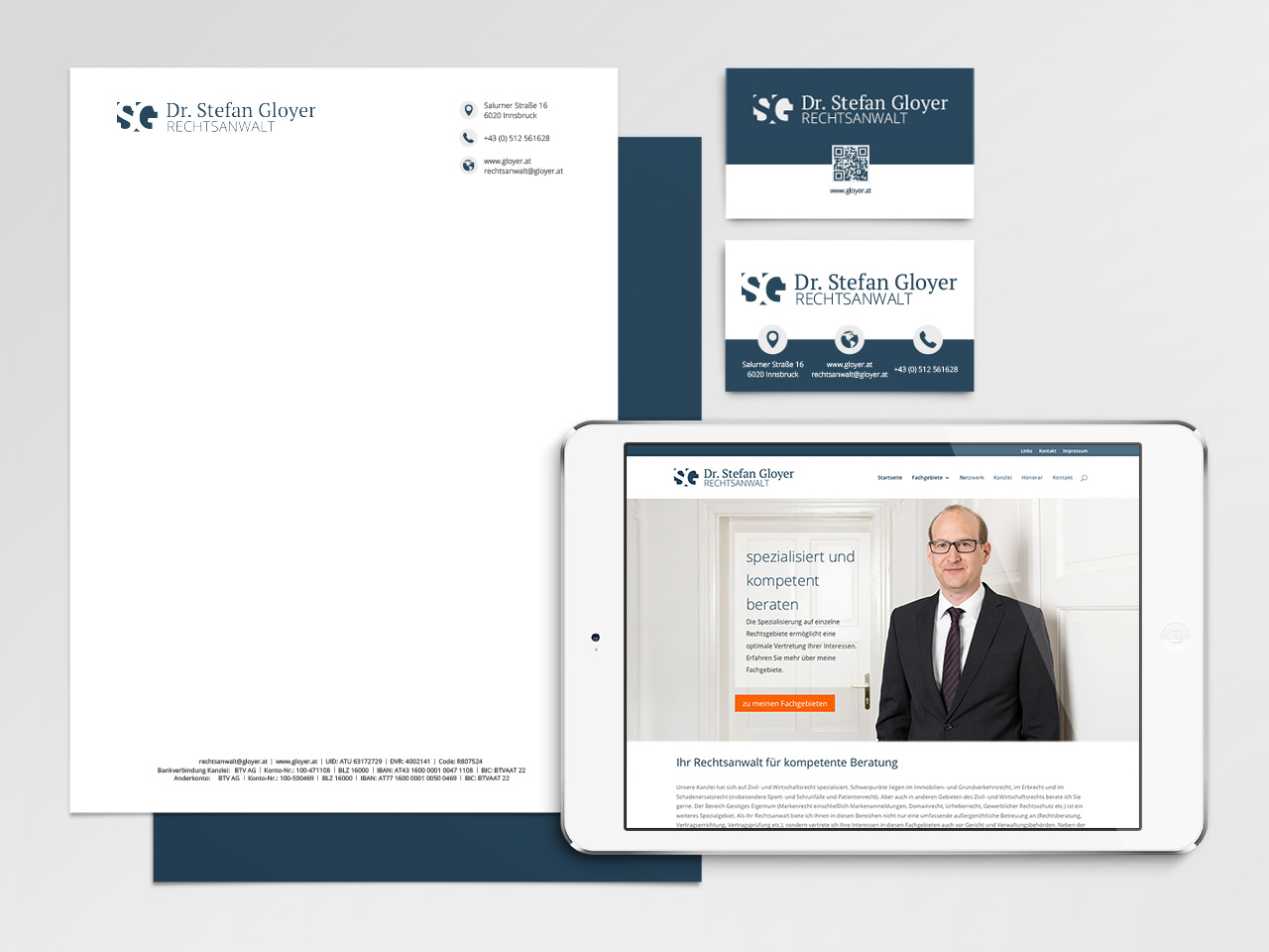 Corporate Design Rechtsanwalt Dr. Stefan Gloyer