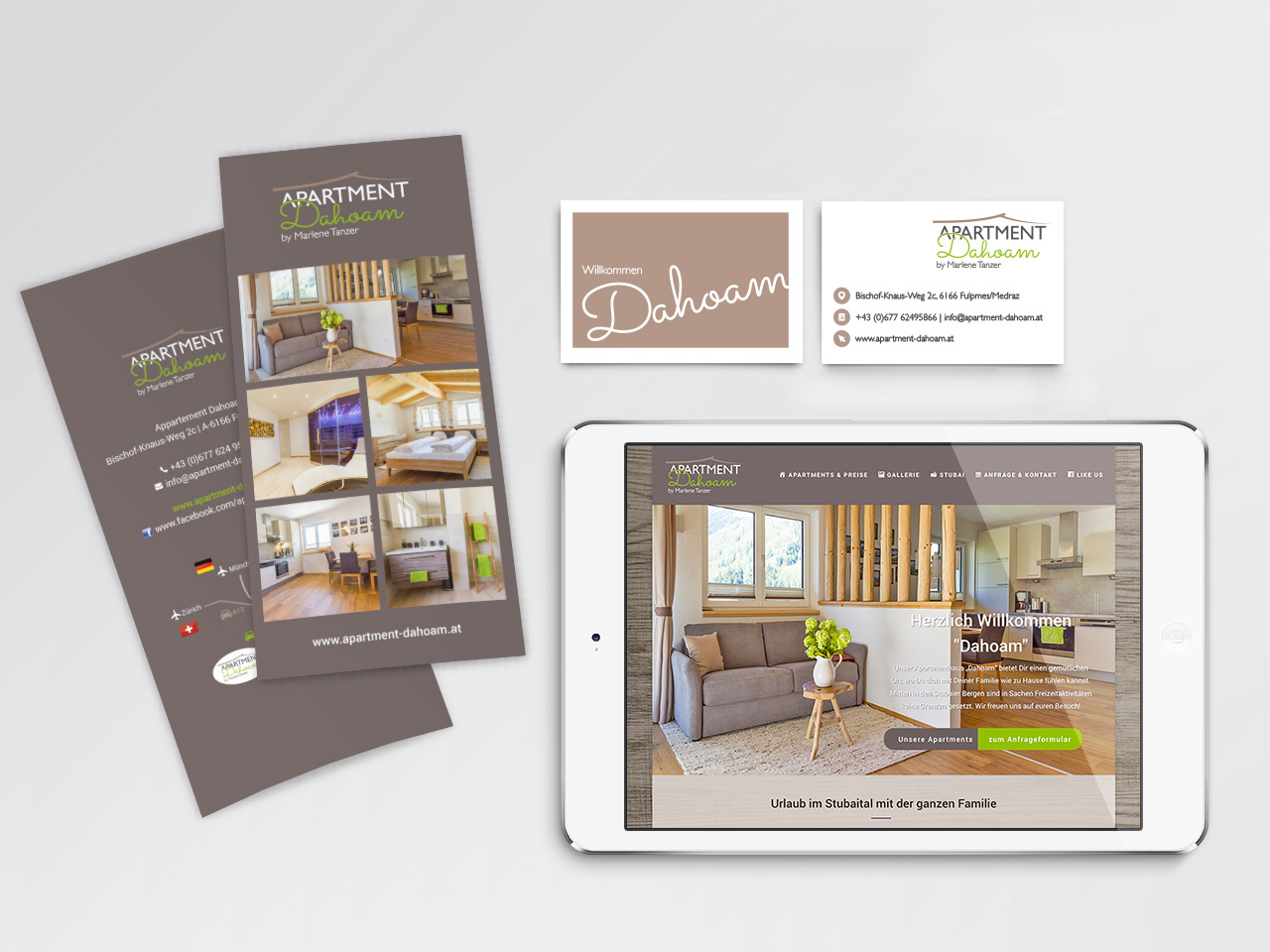 Corporate Design Apartment Dahoam